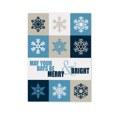 Picture of Tiled Snowflakes Greeting Card