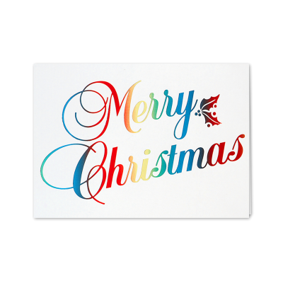 Picture of Rainbow Merry Christmas Greeting Card