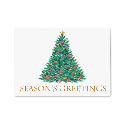 Picture of Patriotic Season's Greetings Greeting Card