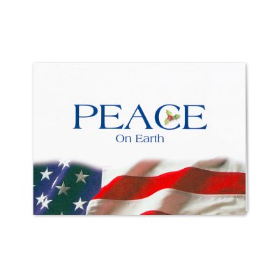 Picture of Patriotic Peace on Earth Greeting Card