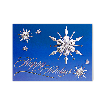 Picture of Raised Relief Snowflakes Greeting Card