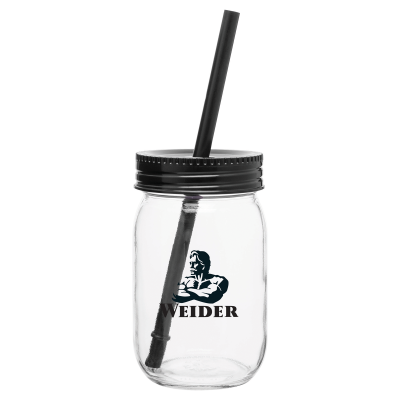 Picture of 16 oz. Mason Jar with Color Lid