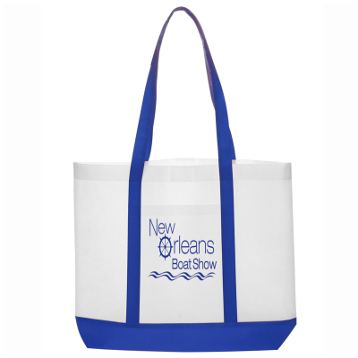 Picture of Non-Woven Tote Bag with Trim Colors - 18 x 14 x 3.5