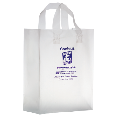 Picture of Clear Frosted Shopper Bag - 10 x 13 x 5