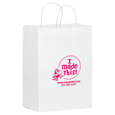 Picture of White Kraft Shopper Bag - 10 x 13 x 5