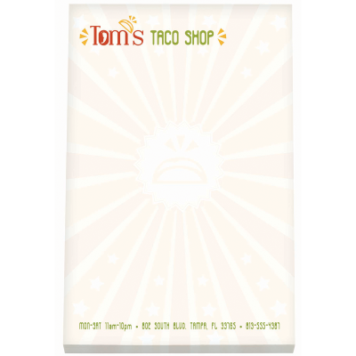 "Picture of BIC® 4"" x 6"" Non-Adhesive Notepad"