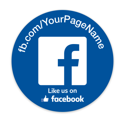 like us on facebook sticker template - personalized facebook stickers mines press