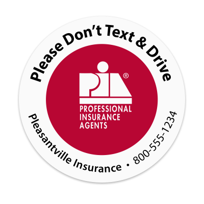 Picture of PIA - Don't Text & Drive  Sticker