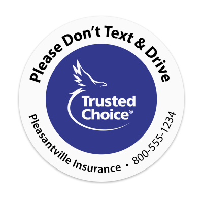 Picture of Trusted Choice - Don't Text & Drive Sticker
