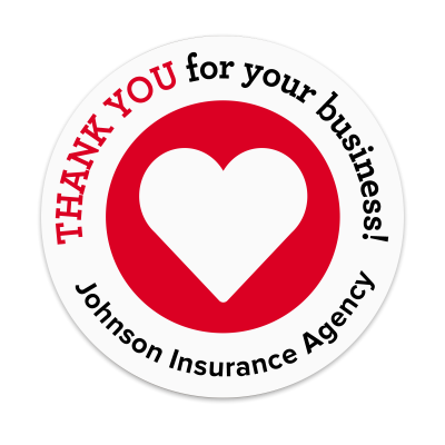 Picture of Thank You for Your Business with Heart Label