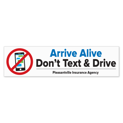 Picture of Arrive Alive - Don't Text and Drive Bumper Stickers
