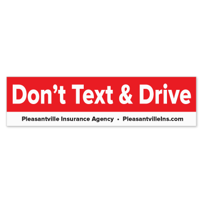 Picture of Don't Text and Drive Bumper Stickers