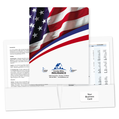 Picture of Pre-Designed Patriotic Folders