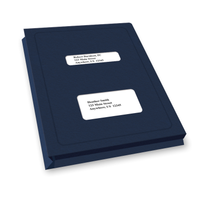 Picture of Expandable Double Window Tax Software Folders