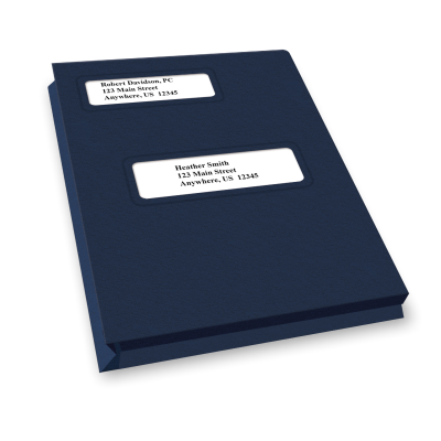 Picture of Expandable Offset Small Window Tax Software Folders