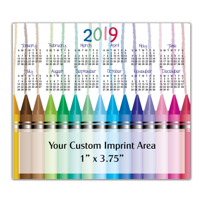 Picture of Calendar Magnet - Crayons