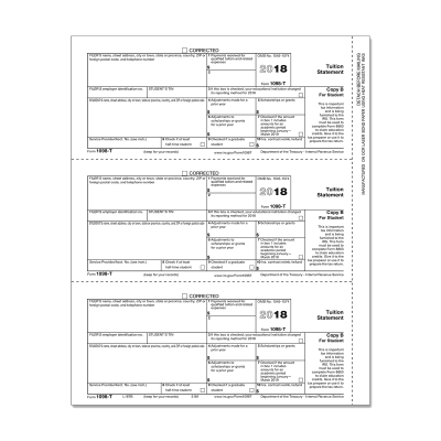 Picture of Form 1098-T - Copy B Student (5181)