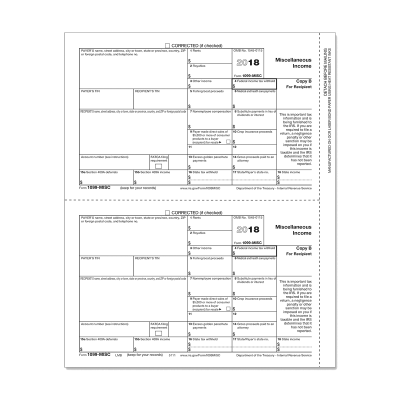 Picture of Form 1099-MISC - Copy B Recipient (5111)