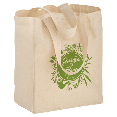 Picture of Cotton Canvas Grocery Bag - 12 x 13 x 8