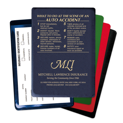 At The Scene Personalized Insurance Card Holder   Mines Press