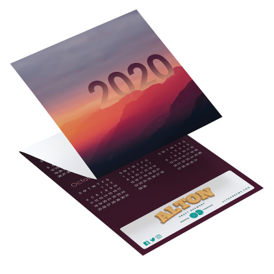 Picture of Landscape Tri-Fold Greeting Card Calendar