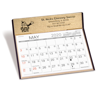 Picture of Gold Medallion Desk Calendar