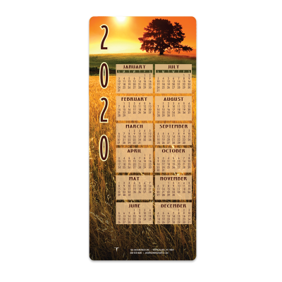Picture of Fields Envelope-Size Calendar
