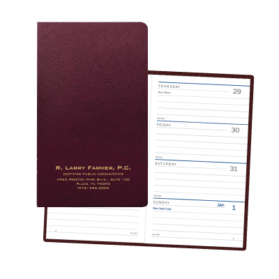Picture of Leatherette Weekly Pocket Planner