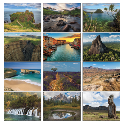 Picture of World Scenic Wall Calendar