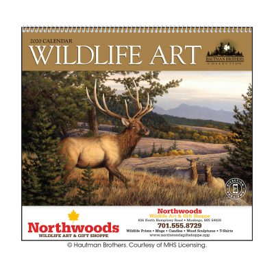 Picture of Wildlife Art by the Hautman Brothers Wall Calendar