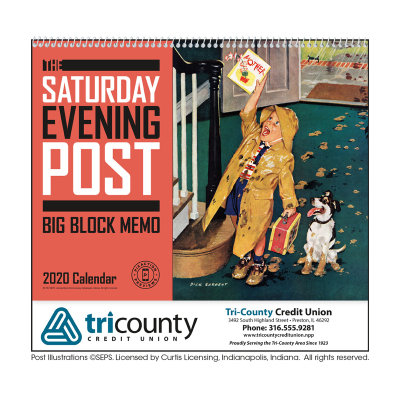 Picture of The Saturday Evening Post Big Block Memo Wall Calendar