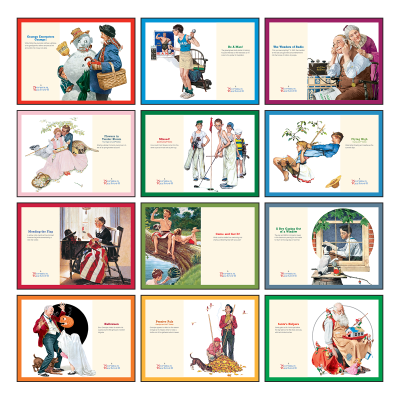 Picture of Norman Rockwell's Wonderful World Wall Calendar