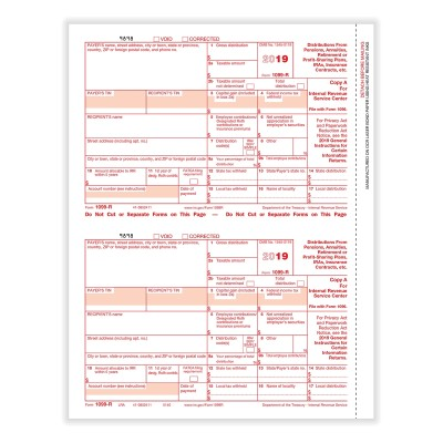 Picture of Form 1099-R - Copy A Federal (5140)