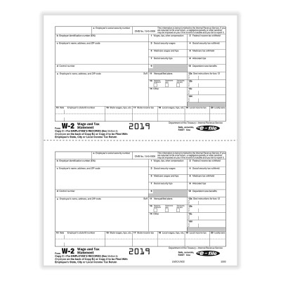 Picture of Form W-2 - Copy C/ 2 - Employee Record - 2up (5203)