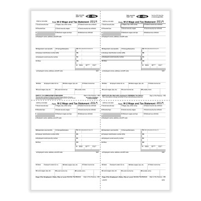 Picture of Form W-2 Version 1A LW - 4up (5216)