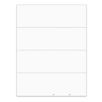 Picture of 4-Up Blank W-2 or 1099 Form with Employee Instructions - Horizontal  (5208)