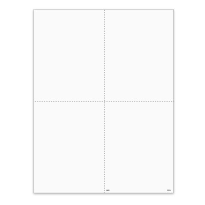 Picture of 4-Up Blank W-2 Form with Employee Instructions- Ver 1 - Quadrants  (5209)