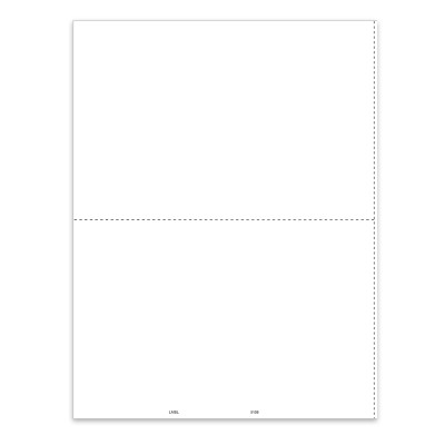 Picture of 2-Up Blank 1099-MISC Form With Employee Instructions (5108)