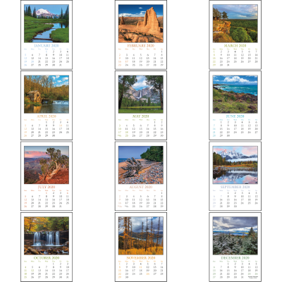 Picture of Rectangle Scenic Stick-On Calendar