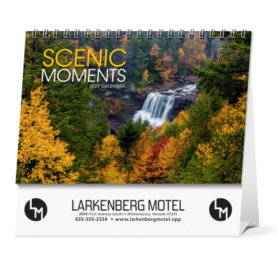 Picture of Scenic Moments Large Desk Calendar