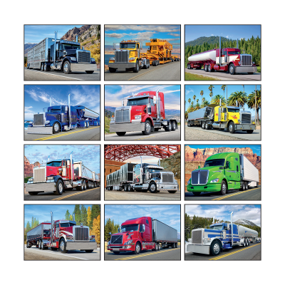 Picture of 18 Wheeler Wall Calendar