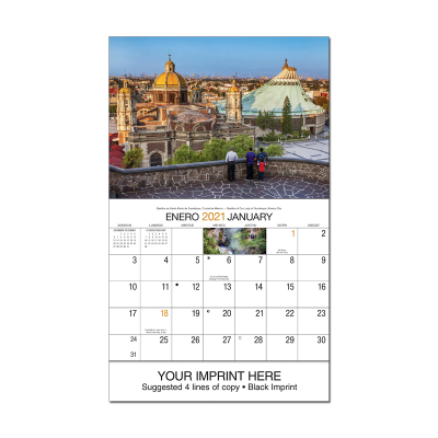 Picture of Mexico Scenic Wall Calendar