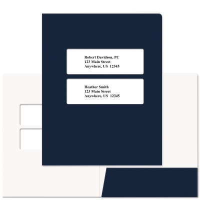 Picture of Soft-Touch Double Centered Window Tax Software Folders