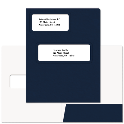 Picture of Soft-Touch Offset Large Window Tax Software Folders