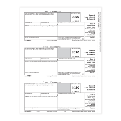 Picture of Form 1098-E - Copy C Recipient (5187)