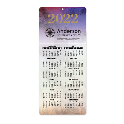 Picture of Multi Color Marble Envelope-Size Calendar
