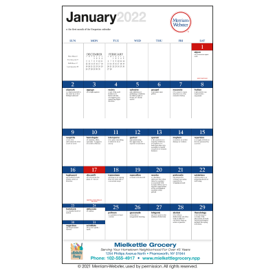 Picture of Word A Day by Merriam Webster Wall Calendar