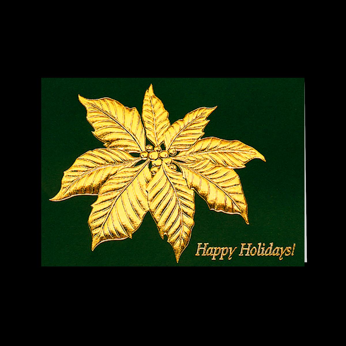 Poinsettia Leaf Greeting Card