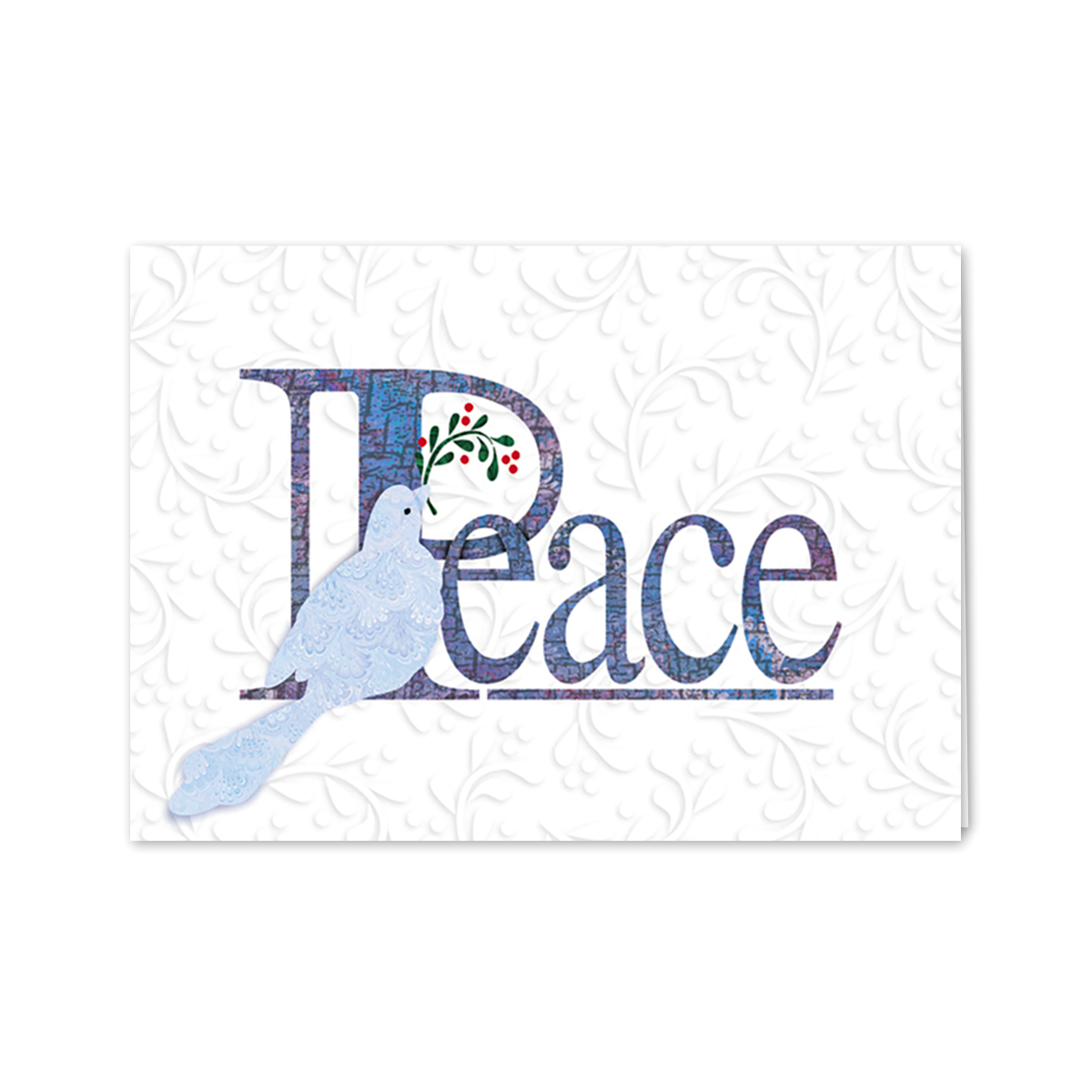Peace Dove Embossed Greeting Card