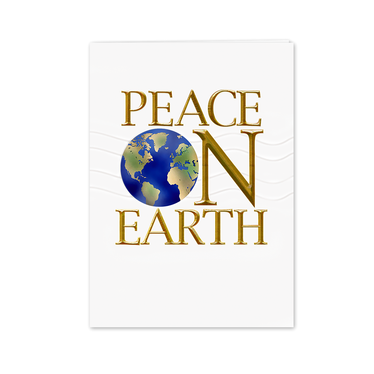Peace On Earth, Globe Greeting Card